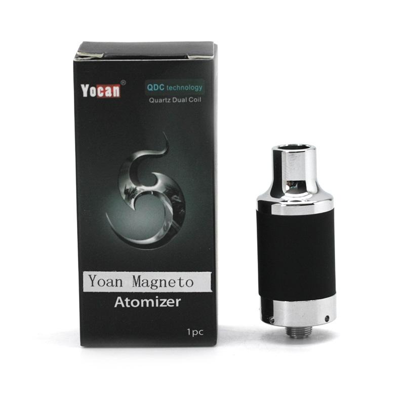 Original Yocan Magneto Atomizer Yocan Magneto Tops Wax Vaporizer With Ceramic Coil Wax Tool Coil Cap Included 5 Colors
