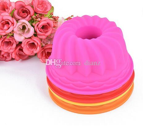 Pumpkin Shape 3D Cake Cup Silicone Muffin Cupcake Mold Baking Tools Cake Decorating Tools For Bakeware 6.5*3CM