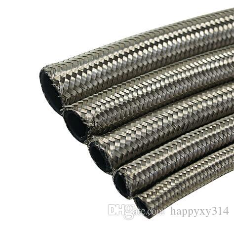 5meter STAINLESS STEEL BRAIDED FUEL OIL HOSE an6 8 10 braided hose fitting transmission oil cooler kits fuel oil hose