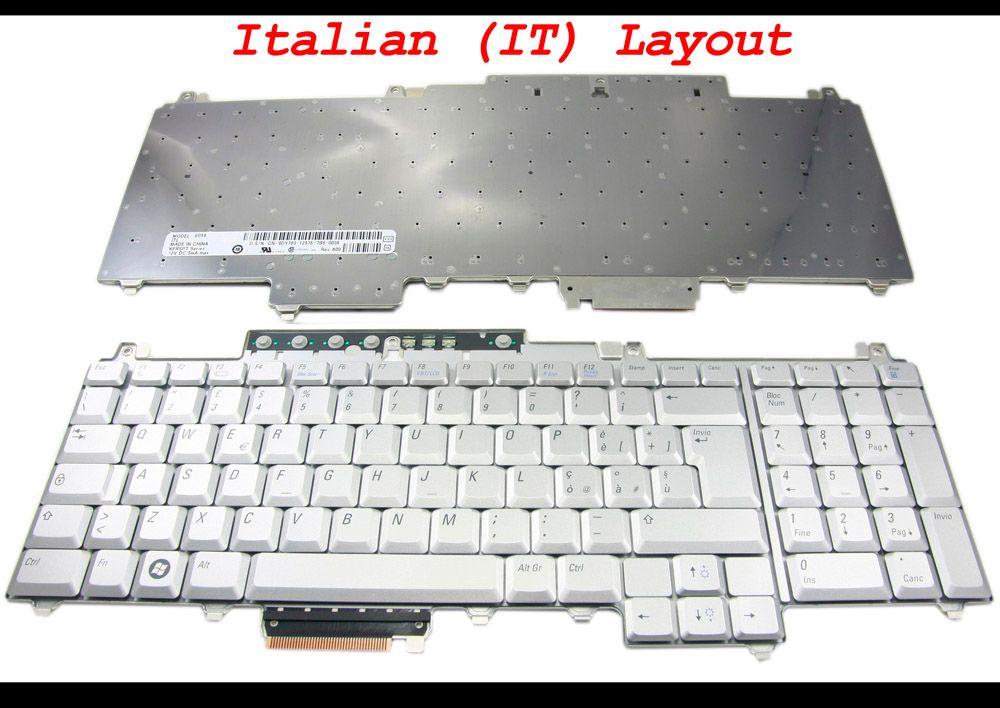لوحة مفاتيح للكمبيوتر المحمول جديدة ومبتكرة من أجل Dell for Inspiron 1720 1721 و Vostro 1700 و XPS M1730 إصدار اللغة الإيطالية الفضية الإيطالية ITIANO - 0DY70