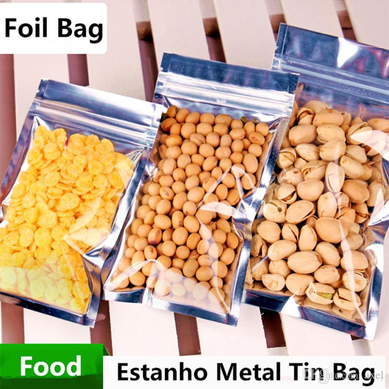 8x10cm Translucent Reclosable Smell Proof Packaging Mylar Bag Aluminum Foil Zip Lock Food Snacks Gift Showcase Heat Seal Laminating Package