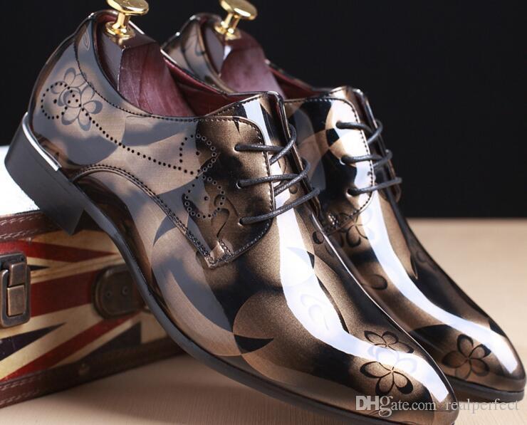Мода Мужская обувь из натуральной кожи мужчины платье обувь Марка роскошные мужские бизнес повседневная классический джентльмен обувь человек #RU0001