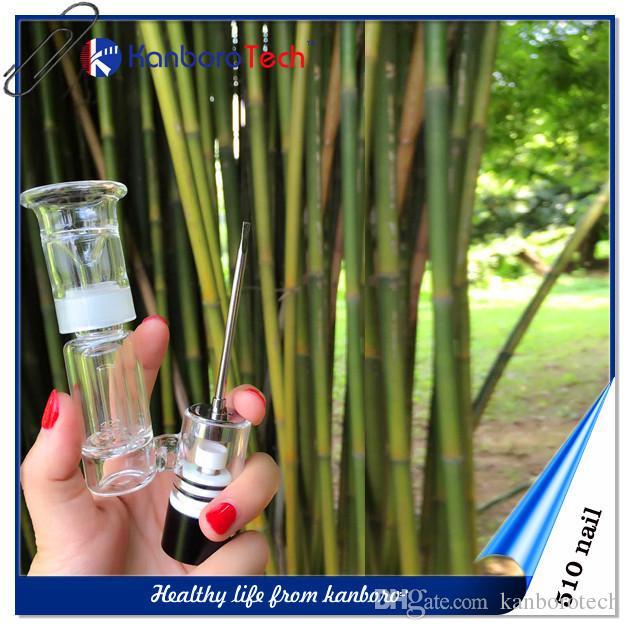 510Nail Box Mod santé Vaping pour ongles en céramique et titane Dôme en verre Bout Rond goutte à goutte de cire Vape Vaporizer E-cigarette sur la nouvelle liste.
