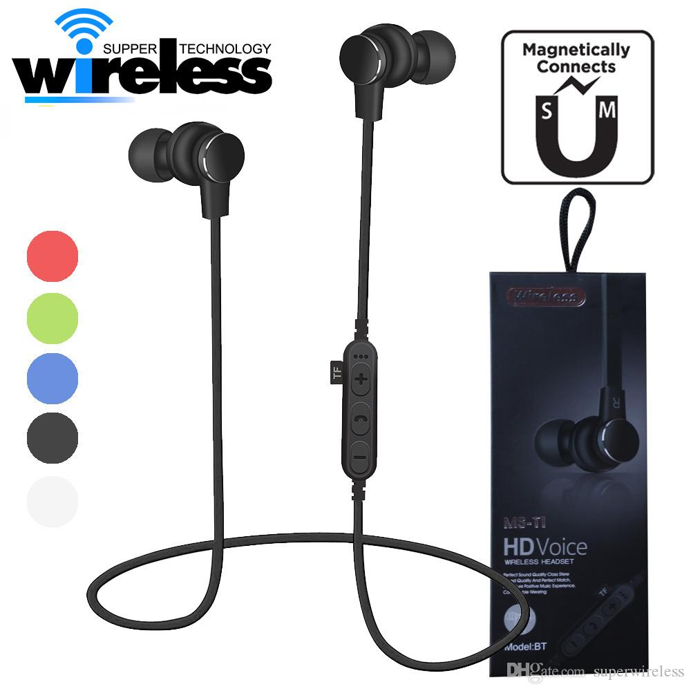 Ms T1 Magnetic Bluetooth Sport Earphone Headphones Wireless Earbuds Headset With Mic Mp3 Stereo For Iphone Samsung Mobile Phone Headsets Wireless Cell Phone Headset From Superwireless 4 63 Dhgate Com