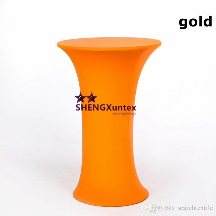 Wedding Decoration Round Base Spandex Cocktail Table Cover Free Shipping