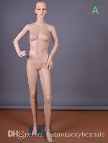 Moda all'ingrosso Sexy 3Style PE Wedding Femmina Body Model Puntelli Esposizione finestra Cosmetology Sewing-Mannequin per vestiti B587