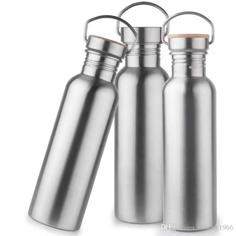 18fn Wide Mouth Vacuum Insulated Cup Travel Bottles Bicycle Cups Double Walled Stainless Steel Wine Shape Portable Water Bottle High Quality