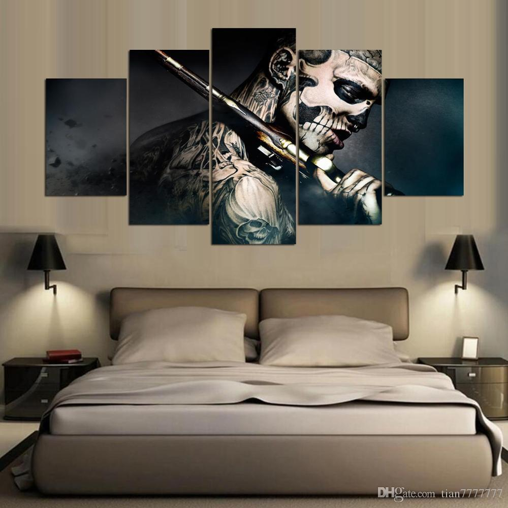 Living Room Canvas Paintings 2017 5 Panel No Frame 47 Ronin Movie Poster Canvas Painting Wall