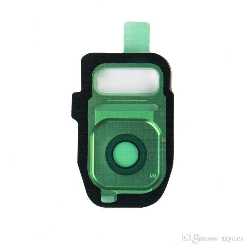 Kamera Lens Cam Kapak OEM Orijinal Bezel Sürümleri Gümüş Galaxy S7 Kenar Adhensive Galaxy Telefon Altın Mavi Beyaz Kamera Gorilla Cam Temper