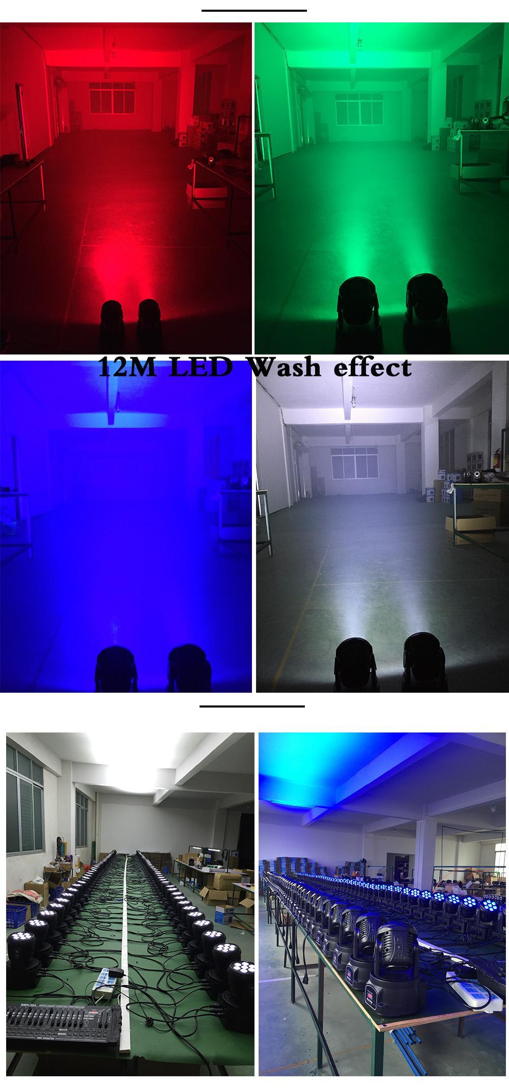 2018 Led Wash 7x12w Rgb Led Mini Moving Head Light Dmx Wash Spot