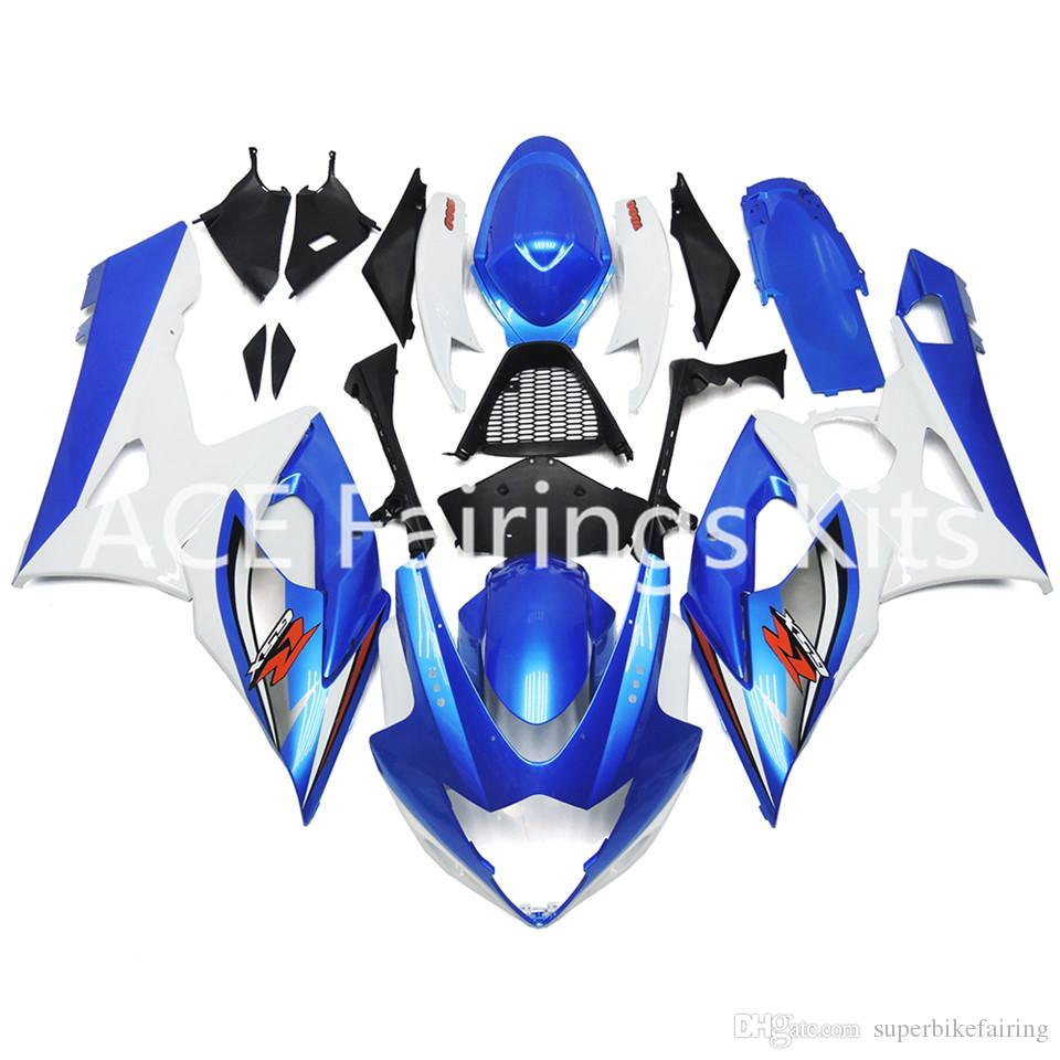 3 free gifts New Suzuki GSXR1000 GSXR 1000 K5 2005 2006 05 06 ABS Motorcycle Fairing Kit Blue and white style v15