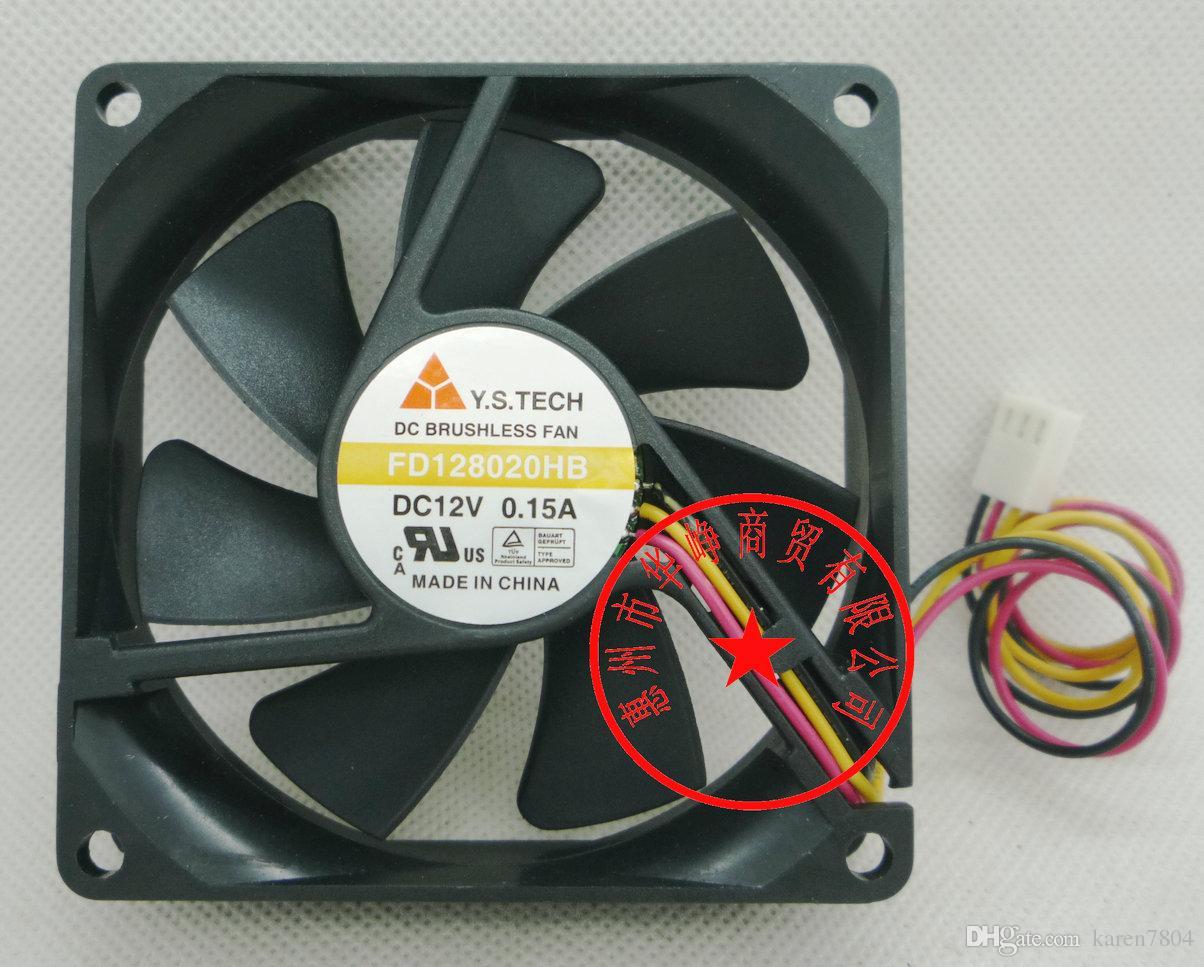 Original novo FD128020HB DC12V 0.15A 80 * 80 * 20 MM FD128020EB FD128020MB FD128020LB ventilador de refrigeração