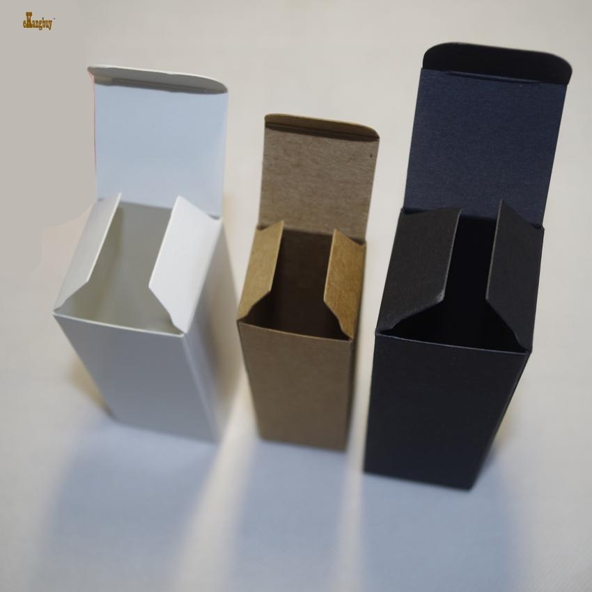 2018 Limited Tubetes 100pcs/lot 2x2x8.5cm Kraft Paper 350gsm Diy Lip Balm Box Lipstick Case Brown Color And Craft Package Black/white/kraft