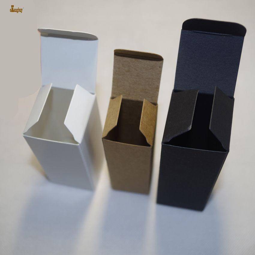 2018 Limited Tubetes 100 шт. / Лот 2x2x8.5cm Крафт-бумага 350gsm Diy Бальзам для губ Коробка для губной помады Коричневый цвет и крафт-пакет Черный / белый / крафт