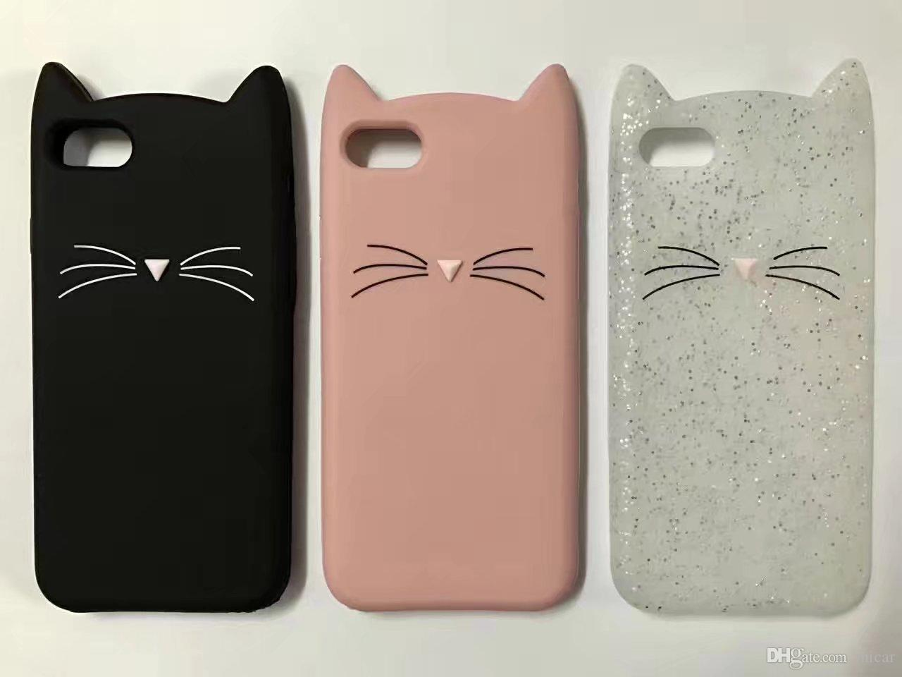 cover iphone 5 silicone gatto