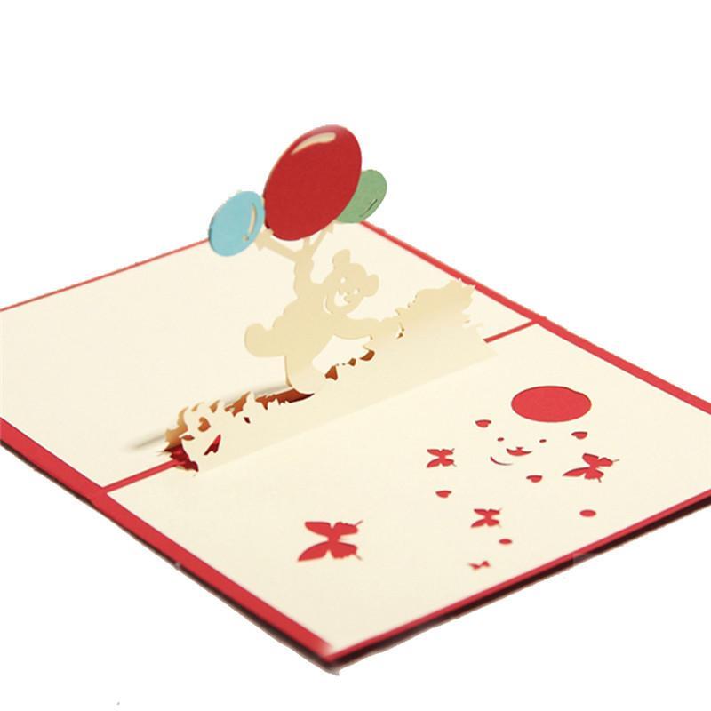 10 adet / grup 3D Pop UP Kart El Yapımı Kağıt Sanatı Oyma GreetingGift Noel Kartları 3D Düğün Davetiyeleri