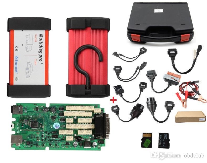 2018 أحدث r3 / 2015 multidiag برو + التشخيص المهنية نفس وظيفة دعم cdp بلوتوث + 8 قطع كابلات السيارة + 4 جيجابايت tf بطاقة