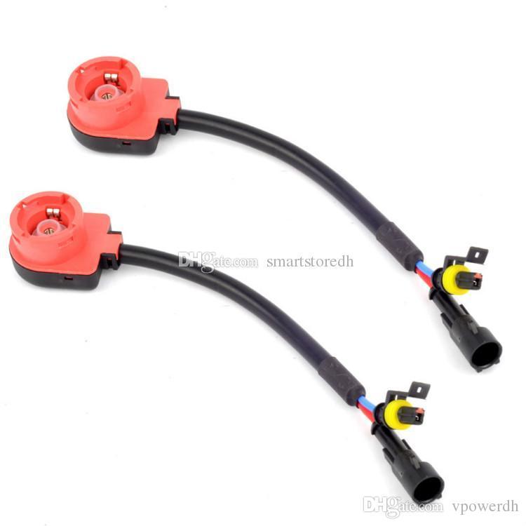 1x D2S D2R D2C ESCONDEU o Conector do Chicote de Fios do Fio Da Lâmpada Tomada Conversor Plugs Car M00056 VPWR