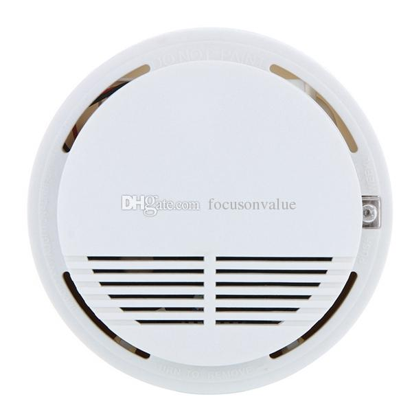 Standalone Photoelectric Smoke Alarm Fire Smoke Detector High Sensitivity Sensor Home Security System for Home Kitchen in retail box
