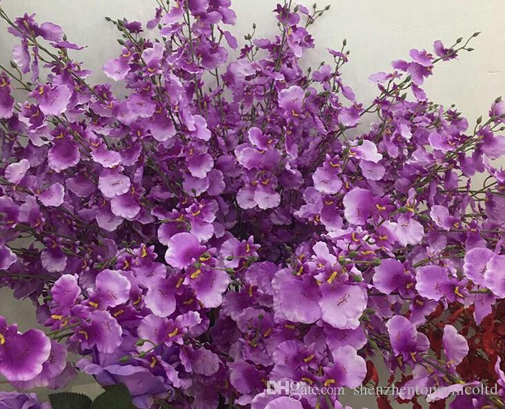 Vero tocco 110 centimetri Ratex inverno gelsomino falso 5 fiori forcella Oncidium artificiale fiore orchidea matrimonio Dendrobium