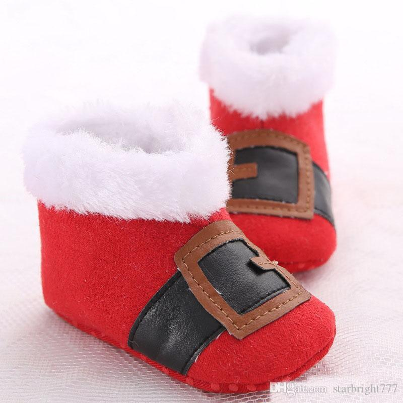 Christmas Shoes For Girls.2019 2017 Christmas Shoes Baby Shoes Santa Claus Snow Boots New Toddler Boys Girls First Walk Kids Prewalker Winter Warm Infant Shoes From