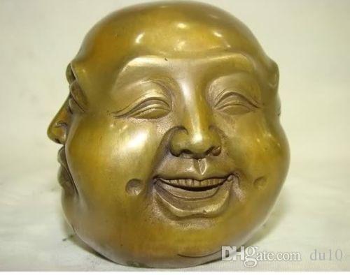 Pirinç Hazırlanmış Insan ŞANSLı Tibet pirinç dört yüz mühür buda başkanı heykeli