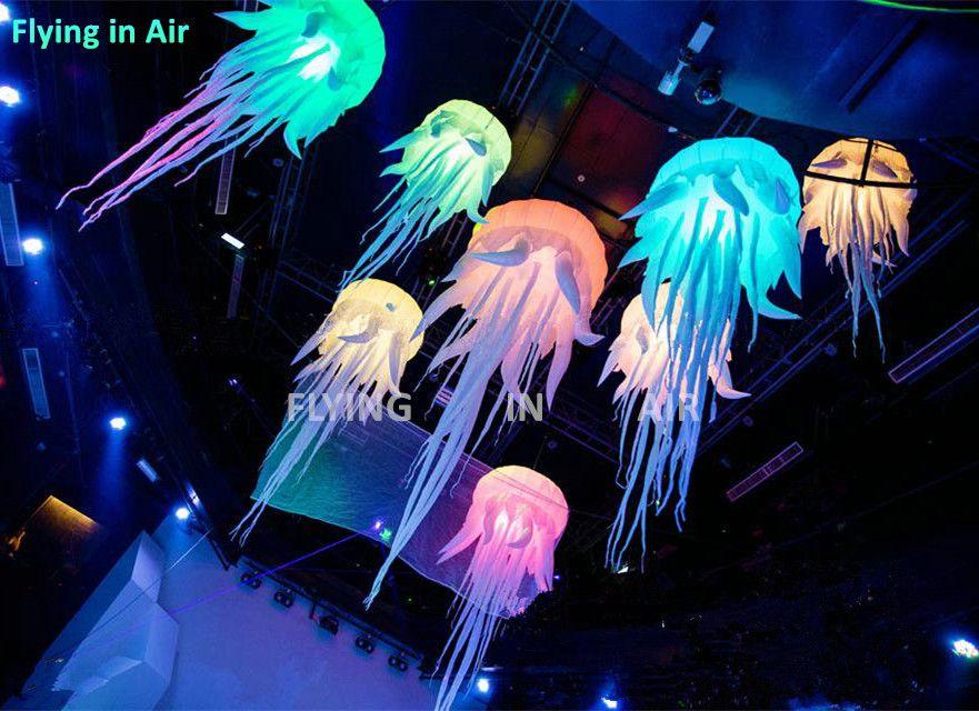 2M / 8FT 조명 풍선 해파리 RGB 교수형 해파리 파티 / 이벤트를위한 인플레이션