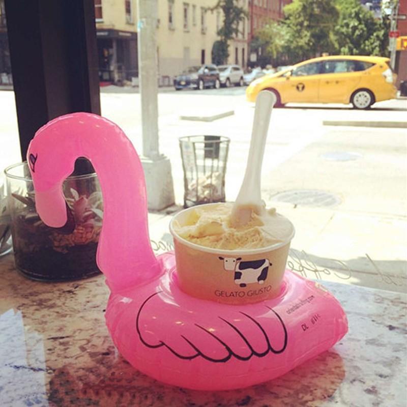 2-Stks-partij-Leuke-Opblaasbare-Flamingo-Strand-Drijvende-Bekerhouder-PVC-Zwembad-Badkamer-Party-Kids-Water-Speelgoed