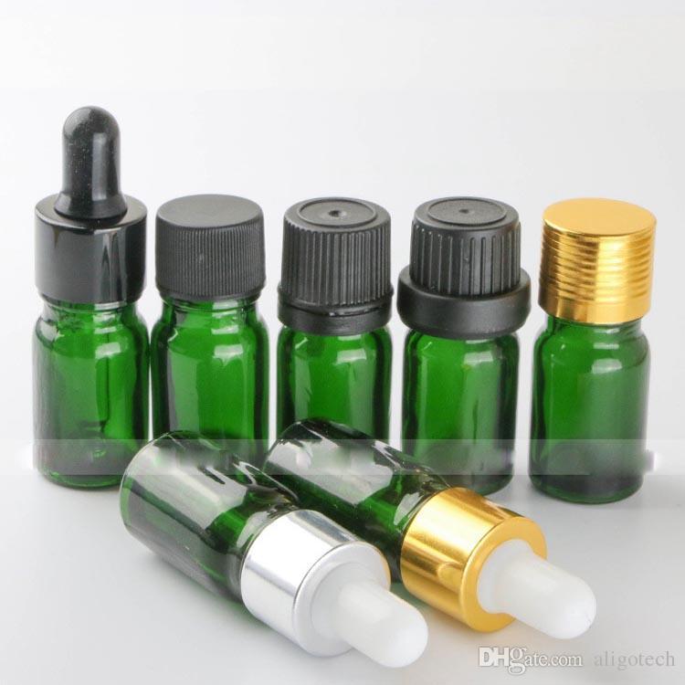 960pcs/lot Glass Empty 5ml Dropper Bottles For Essential Oils, Green 5ml E-liquid Glass Dropper Bottles Wholesale for ELIQUID Ecigarette