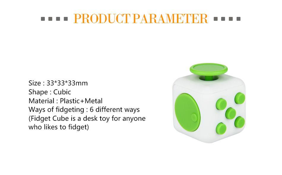 Retail And Wholesale Different Color Plastic Big Size Fidget Cube ...