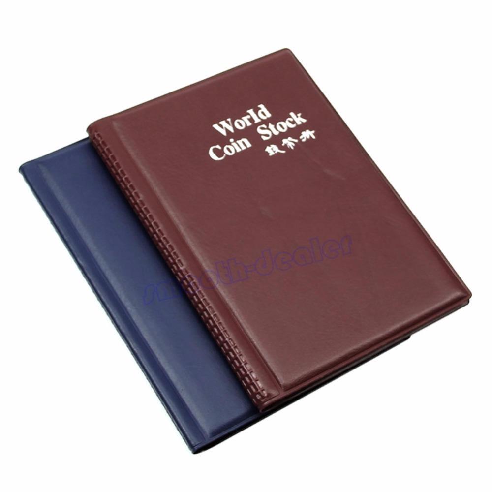 120 Portamonedas Colección Almacenamiento Dinero Penny Pockets moneda Álbum Libro Recolección de álbum de recortes