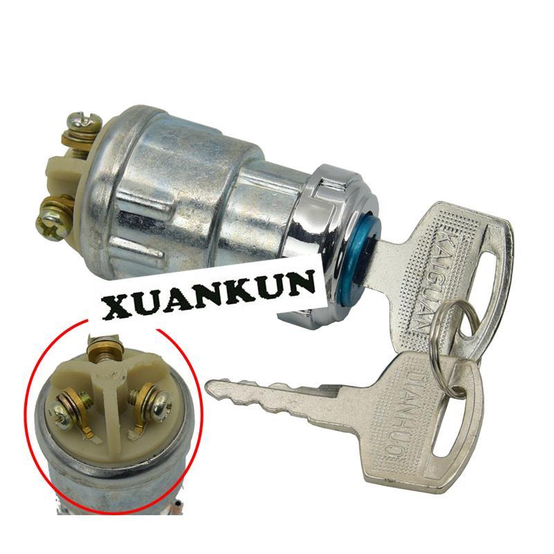Karting vierrädrige Motorrad Eisen Key Lock Key Switch / Zwei - Sitz elektrische Türschloss Zubehör