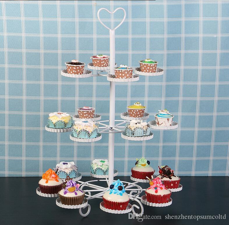 Stainless Steel Cake Stand 3Tier Candy Fruits Cakes Desserts Plate Stands for Wedding Party Cupcake Fruit Plate Stand