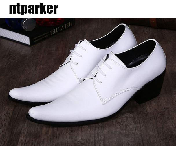 Scarpe da uomo coreane scarpe a punta British maschio parrucchiere scarpe da uomo in pelle scarpe da sposa bianche Zapatos Hombre per uomo, grandi dimensioni US6-12