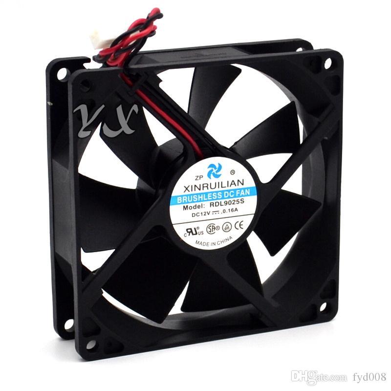 New rdl9025S silent fan 92x92x25mm 12v 0.16A 2line server cooling fan S*