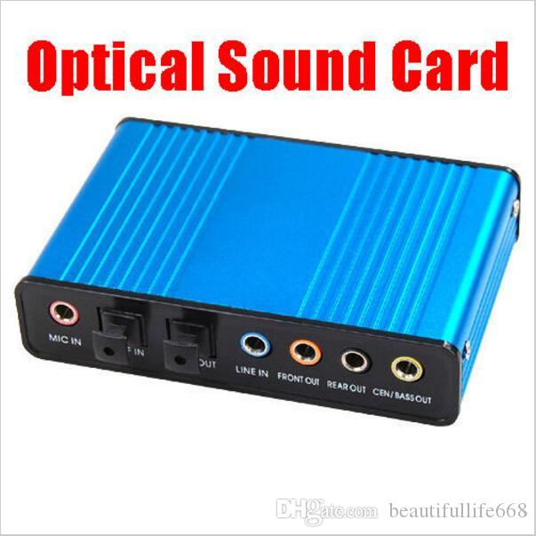 USB External S//PDIF Optical Sound Card Channel 5.1 Box DAC Audio For PC Laptop #