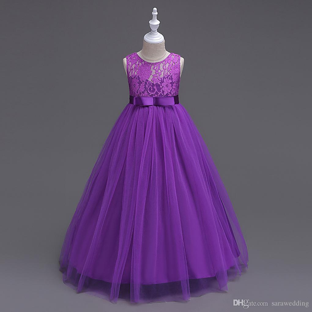 Violet Flower Girl Dresses
