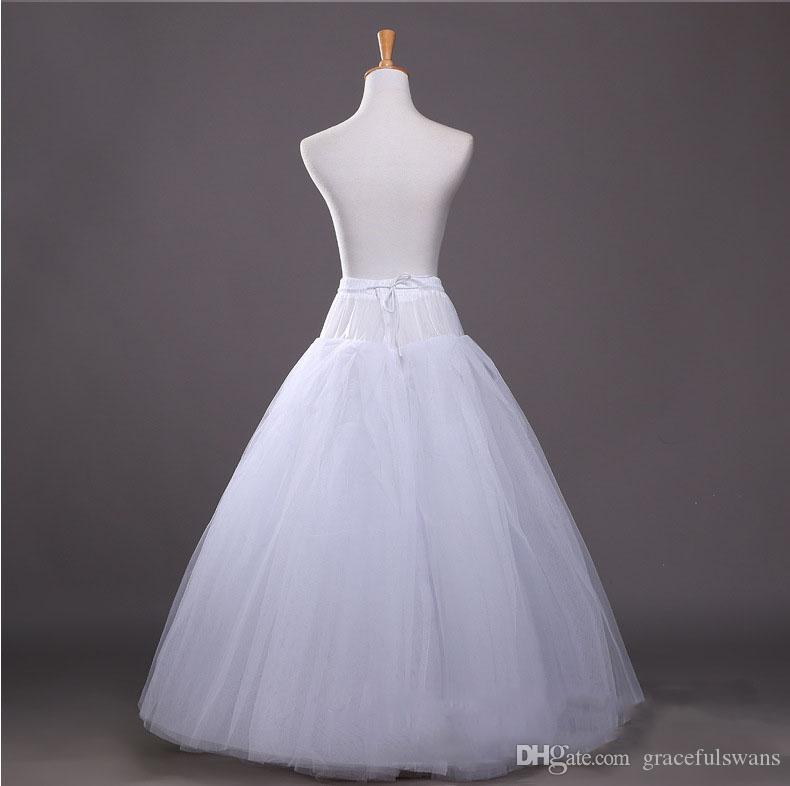 4 Layers Tulle No Hoops Wedding Accessories Petticoat for Bridal Tutu Petticoat Lolita Underskirt Ball Gown Jupon Crinoline