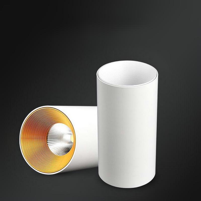 Ściemniana mocowanie powierzchni LED COB LED Downlight 10 W 15W 110V / 220 V Ciepłe / białe oświetlenie wewnętrzne