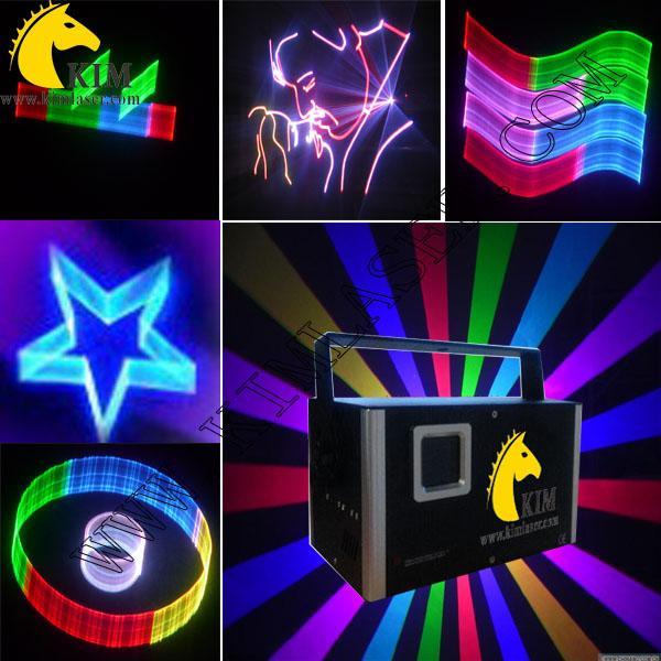 Диско 2W RGB лазер с 2D / 3D / SD-картой / DJ лазерным освещением / клубное освещение / сценическое освещение / паб / лазерное шоу-система / лазерное освещение