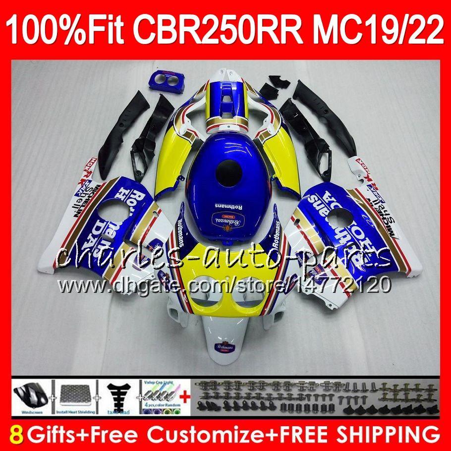 Inyección Para HONDA CBR 250RR CBR250RR 88 89 90 91 92 93 Rothmans Blue 96HM12 MC19 MC22 250 CBR250 RR 1988 1989 1990 1991 1992 1993 Carenado