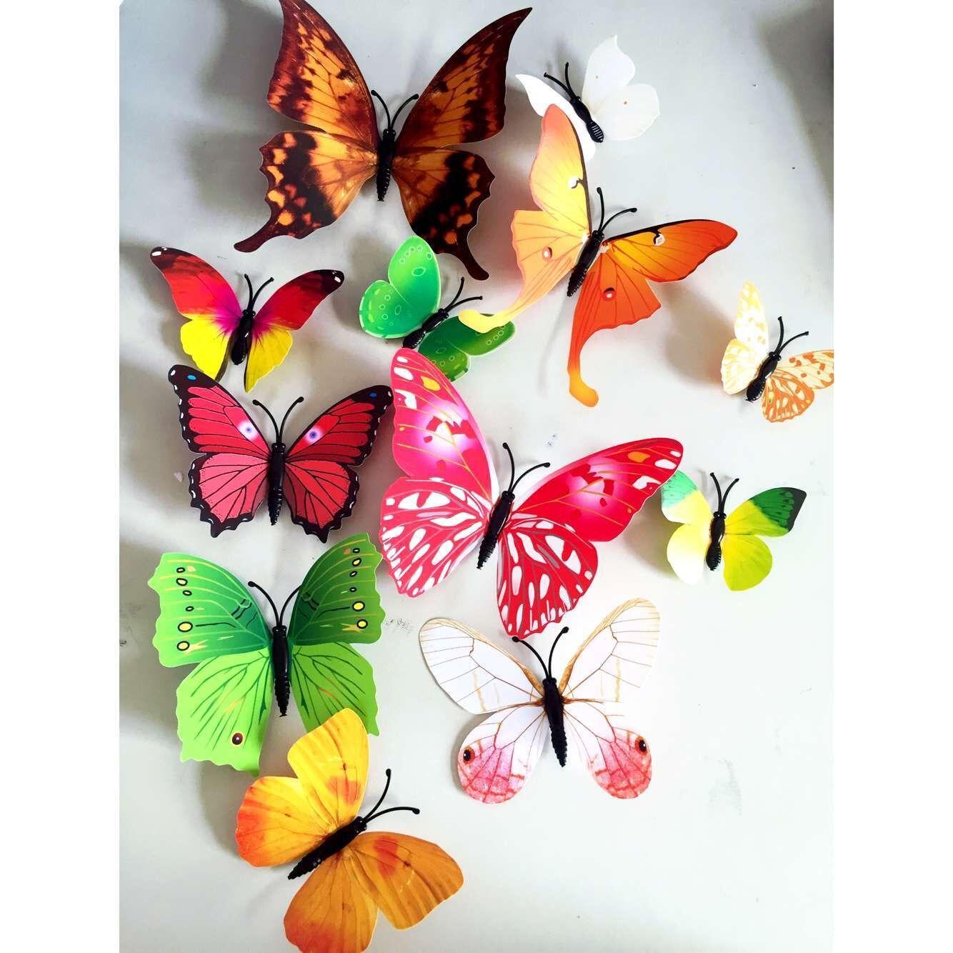 3d Butterfly Wall Decor Pvc 3d Butterfly Wall Decor Cute Butterflies Wall Stickers Art