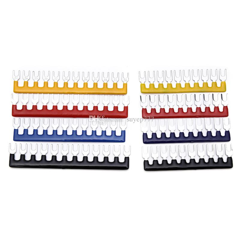 (20 pieces / lot) Suyep Wire Connector Pre Insulated Fork Type Terminal Barrier Strip Jumper Connector 15A 12 Positions TB1512/TBD-15 group