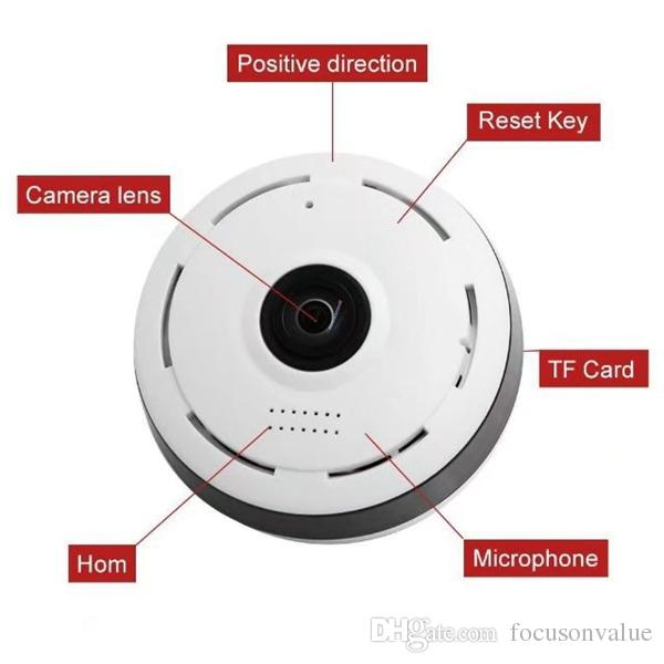 360 Degree Wifi P2P mini IP Camera HD 960P Panoramic Monitoring Camera Wireless Home Security Surveillance CCTV Camera with retail box
