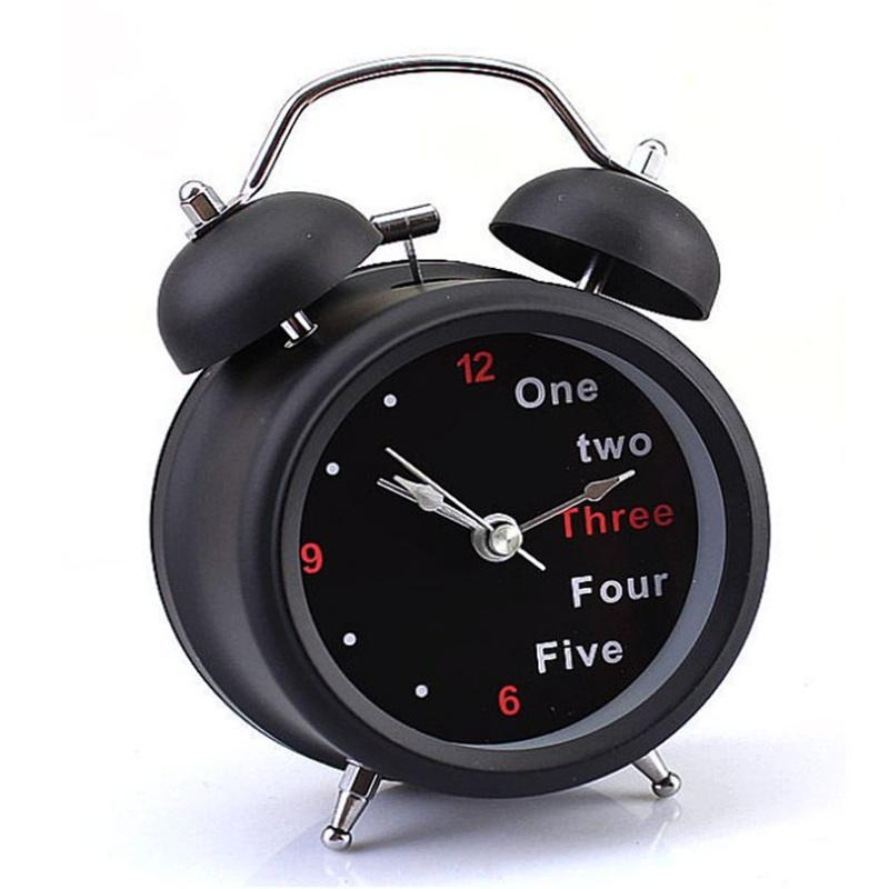 2017 Hot Popular Arrival Classic Number/English Retro Double Bell Desk Table Alarm Clock Black Drop Shipping & Wholesales