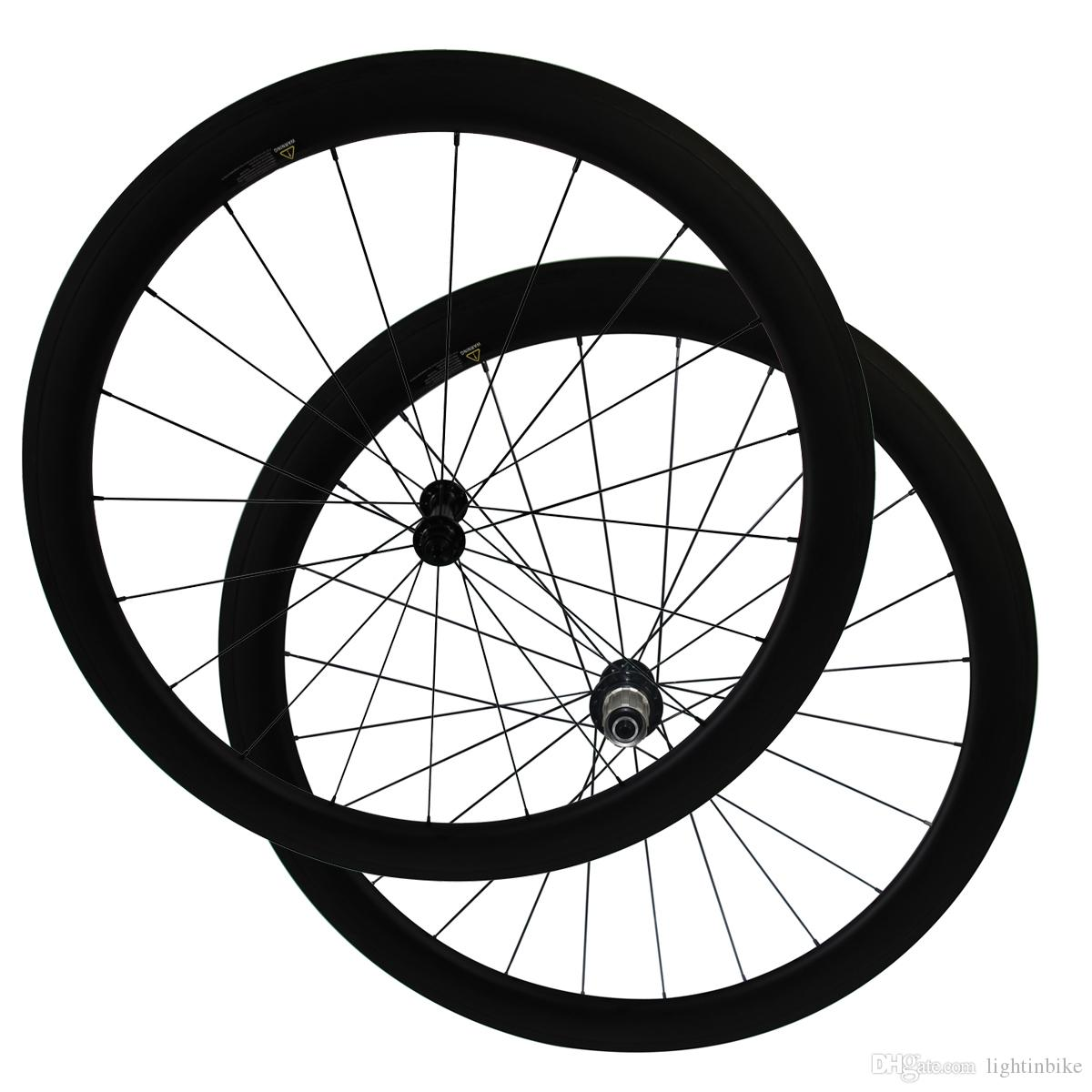 700C Full Carbon Only 1510g 25mm width U Shape Ceramic Bearing hub 50mm clincher carbon road bicycle wheels