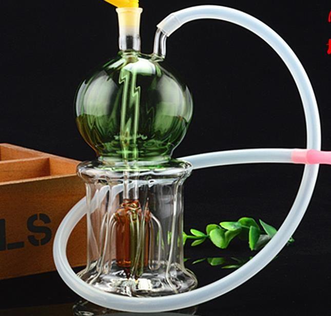 Стеклянный шар GLAS кальян, отправьте аксессуары горшок, стеклянные бонги, стеклянные водные трубы, курение, цветной стиль случайная доставка