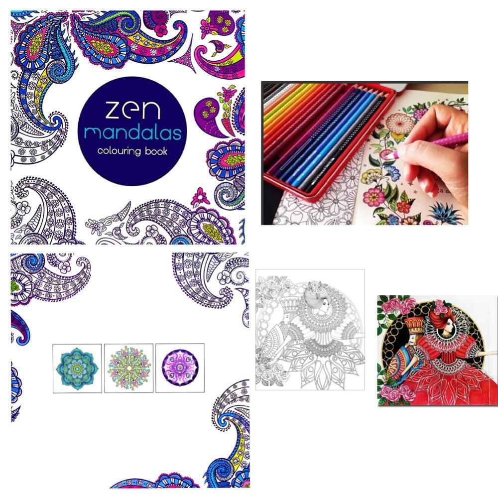 Zen coloring books for children - New Paperback Children Graffiti Coloring Book Painting English Books Zen Mandalas
