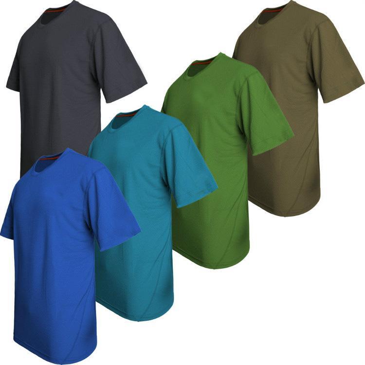 アウトドアスポーツクイック乾燥Tシャツ、ビッグヤードメンズ屋外クイックドライブ服 - 短袖付きJ1262クールマックスファブリック