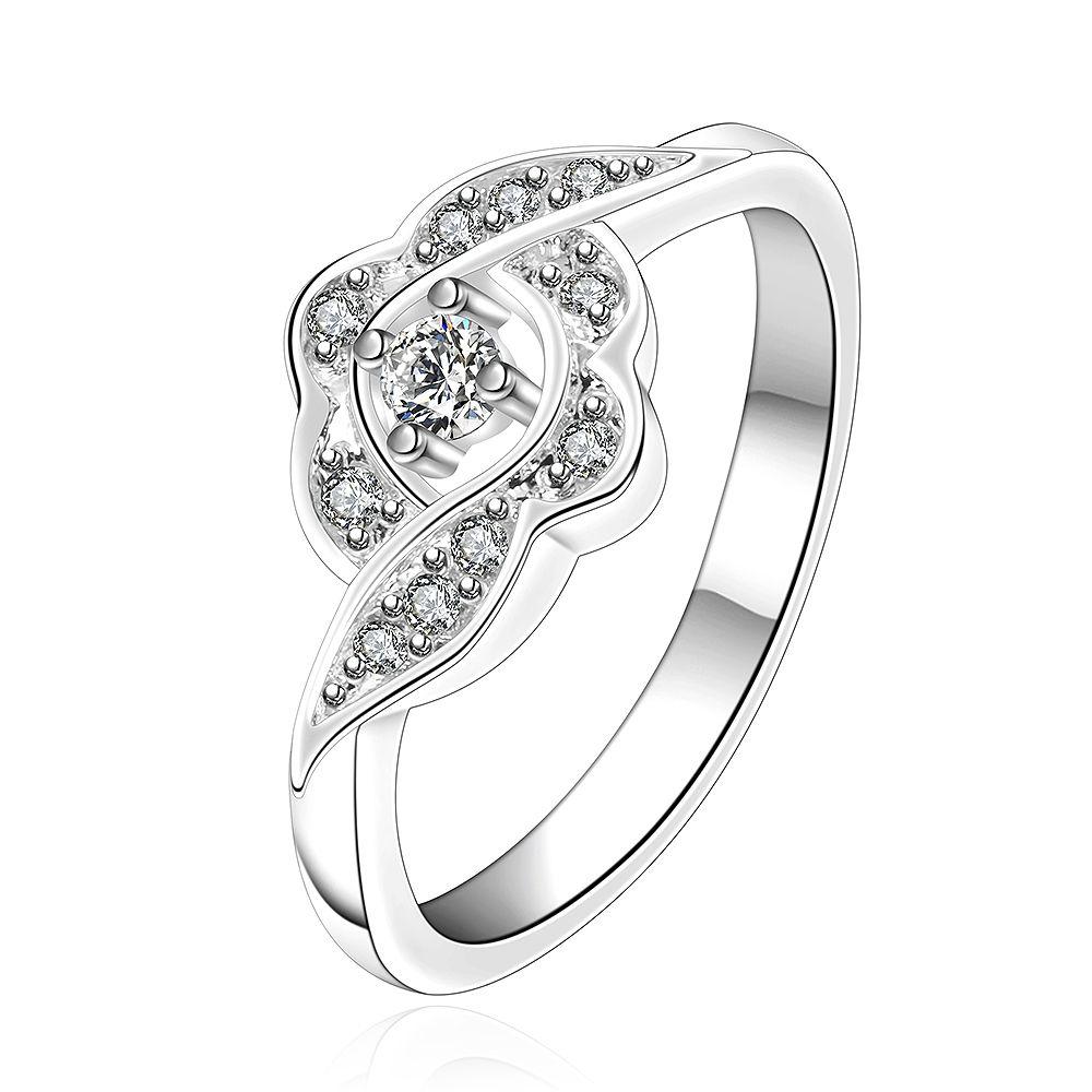Бесплатная доставка оптом 925 стерлингового серебристого серебристого моды любви Bloom кольцо ювелирных изделий LKNSPCR156-8